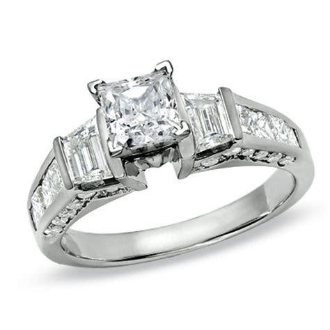 Princess White Gold Wedding Ring Diamond Ring Princess White