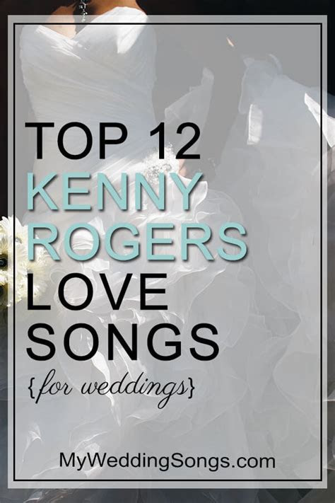 Kenny Rogers Love Songs for Weddings   My Wedding Songs