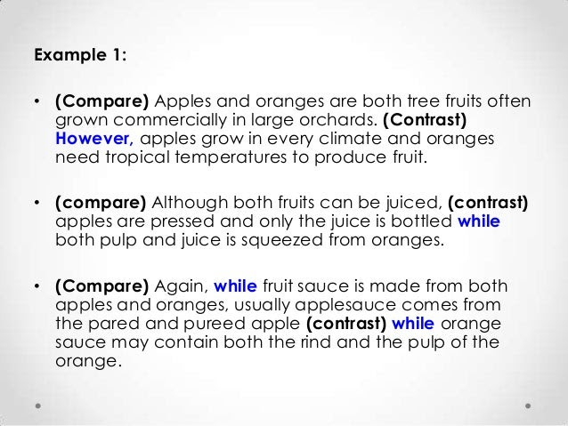 writing a compare and contrast essay 5th grade