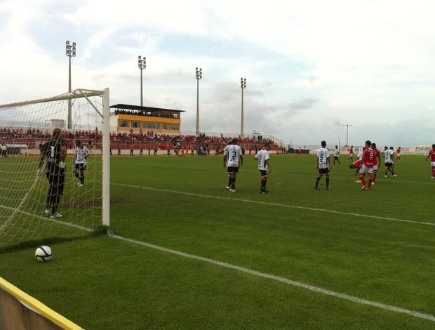 América-RN x Corintians-RN, no Estádio Nazarenão, em Goianinha (Foto: Jocaff Souza)