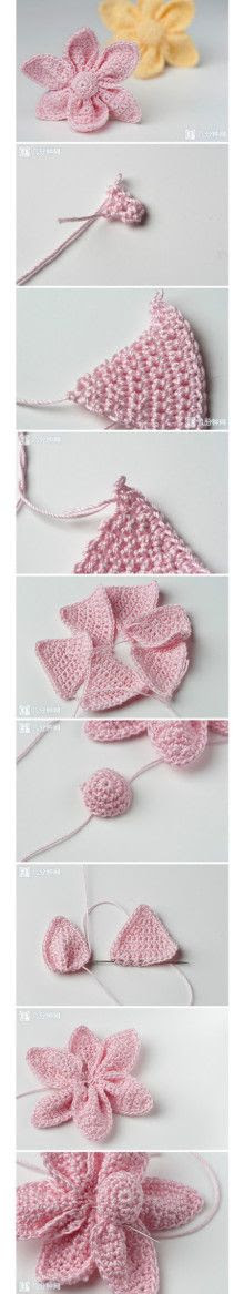 Easy crochet, and sew to join petals . . . Click to view the full image