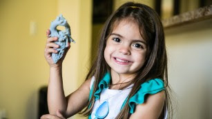 Doctors used a 3-D printer to make a model of Mia Gonzalez's heart.