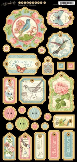 Botanical Tea Chipboard Die-Cut new sneak peek