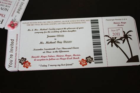 Joanne's DIY Boarding Pass Invitations with Photos and