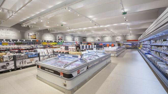 Interior de un supermercado Lidl