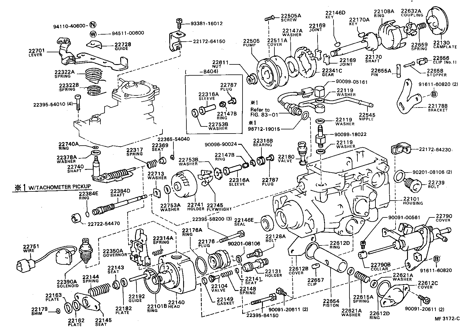 1999 Toyota Camry Parts Diagram