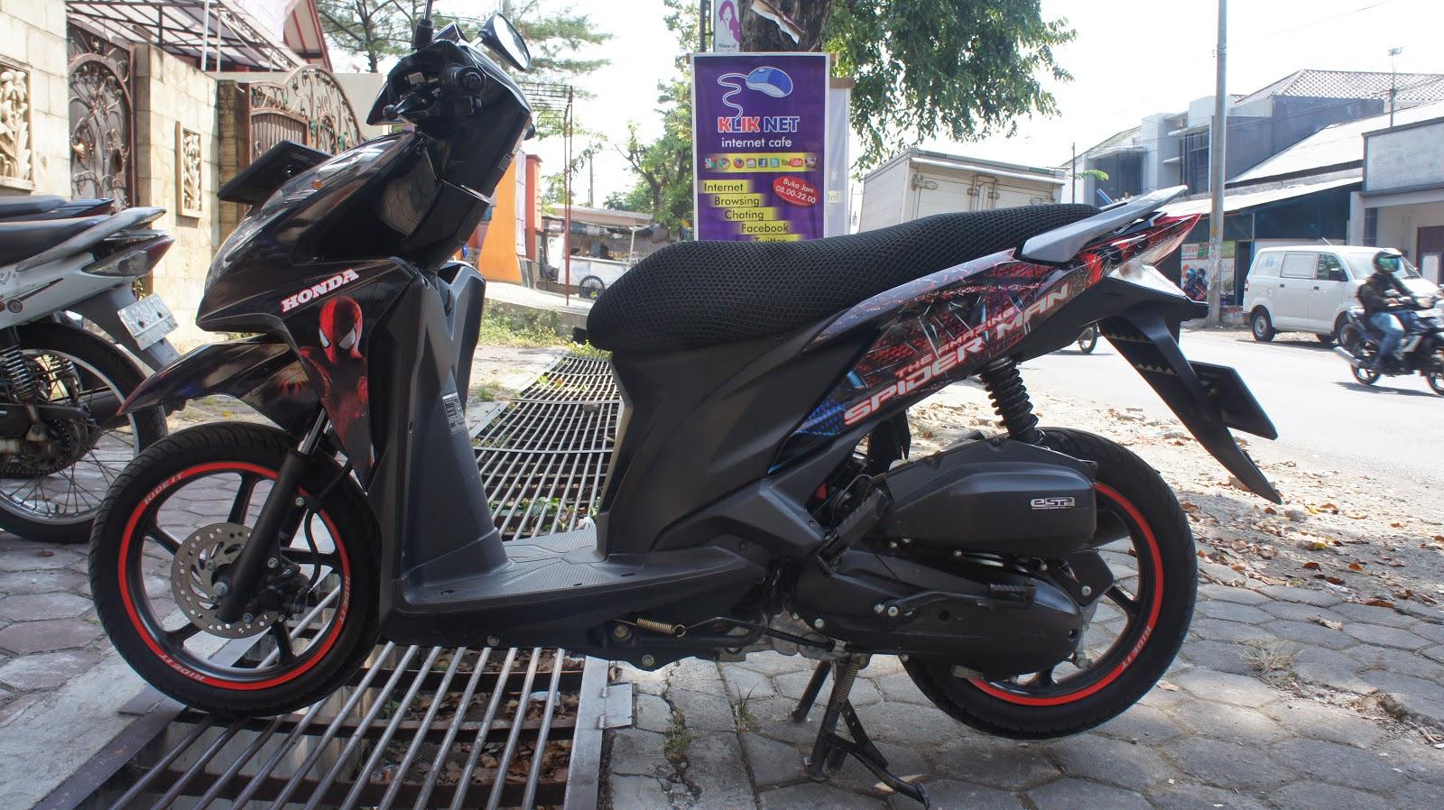 Mengintip Produksi Striping Motor Full Body Berkualitas Di Semarang