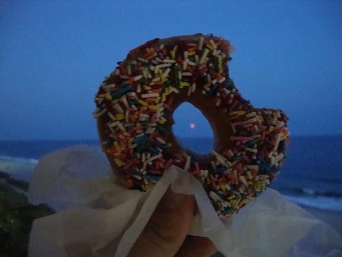 the moon through the donut