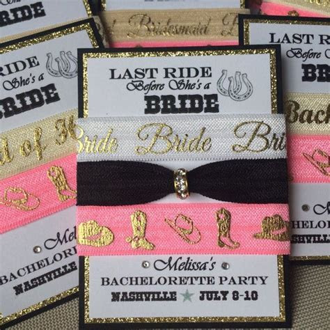 LAST RIDE Bachelorette Party Bridesmaids favor sets