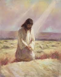 Jesus praying i desert