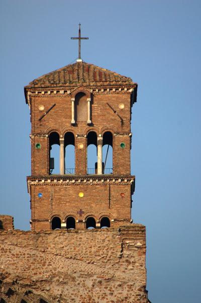 church ruin tower