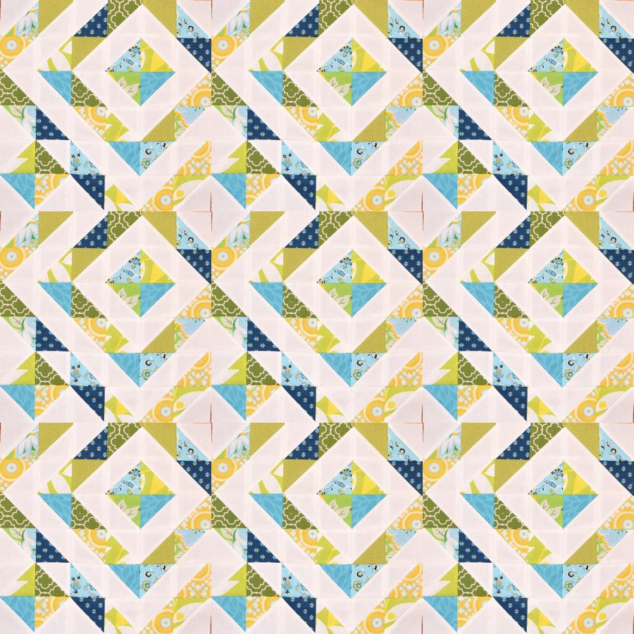 Diamond Ripples in a mosaic