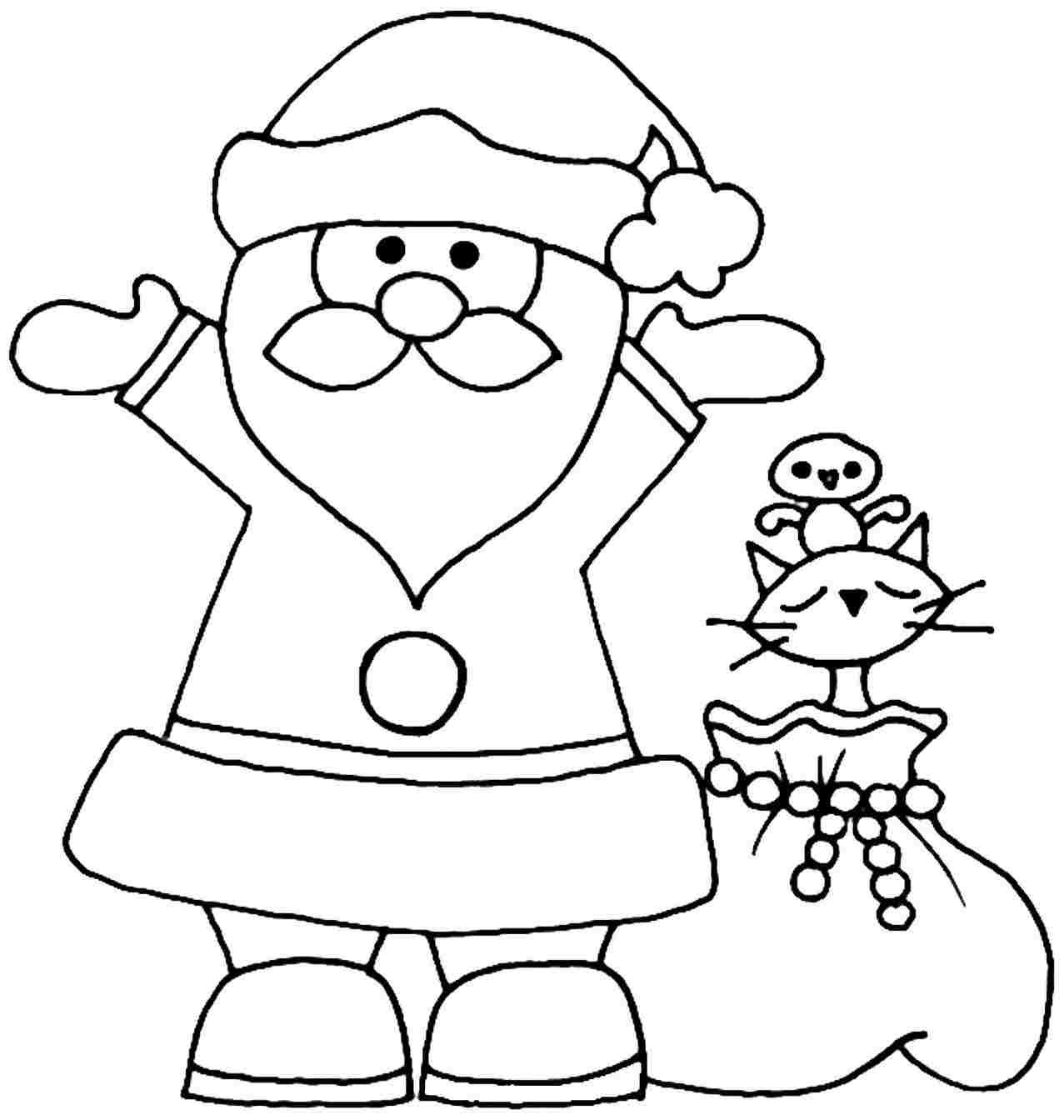 30 Cute Santa Claus Coloring Pages For Your Little Ones | 1344x1277