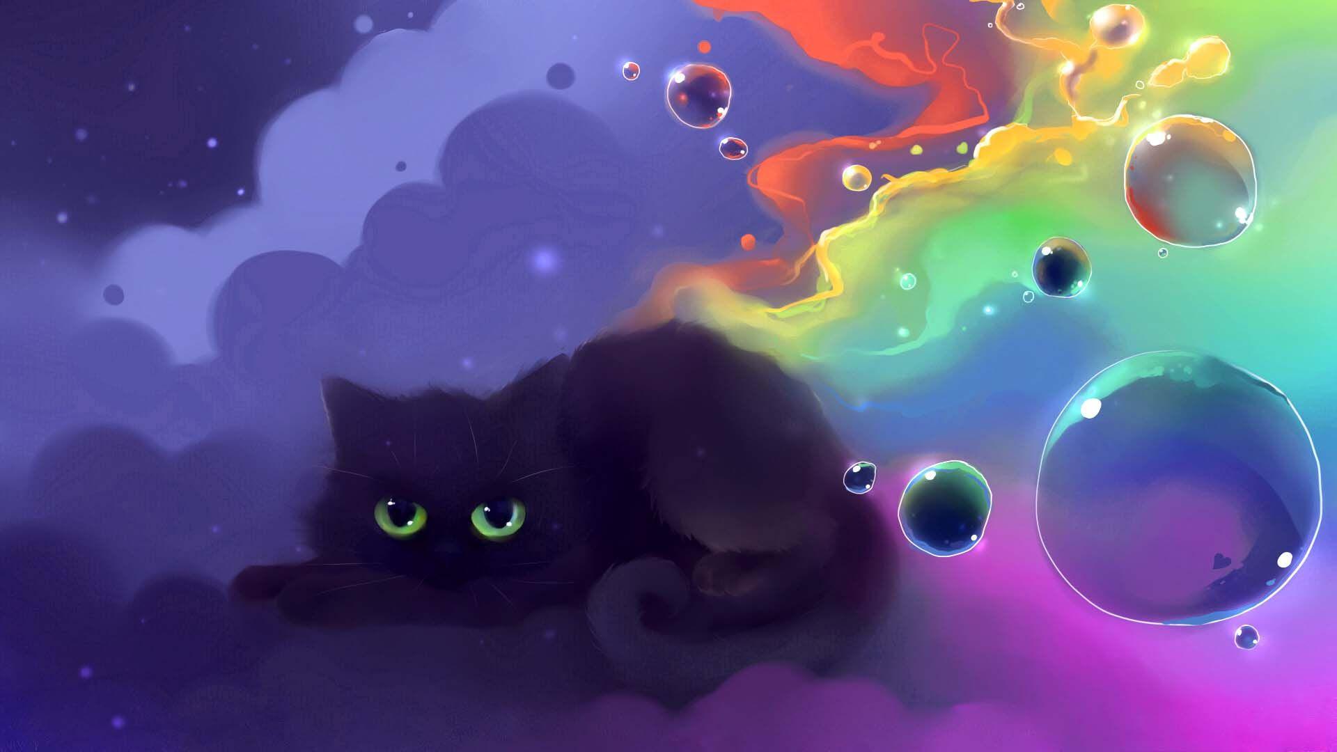Kitty Cat Cartoon Wallpaper