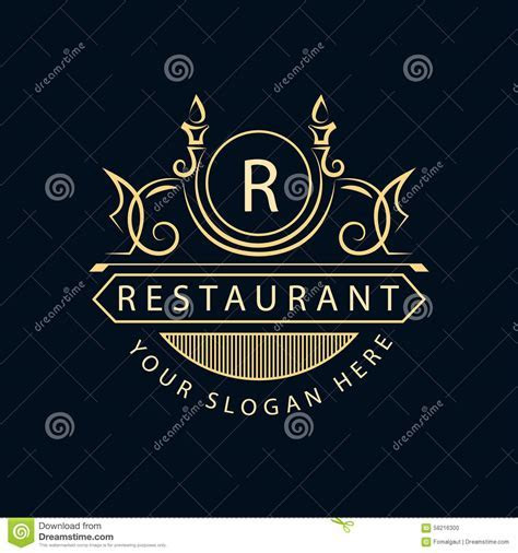 Monogram Design Elements, Graceful Template Stock Vector