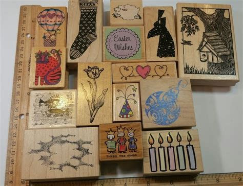 MOUNTED RUBBER STAMPS ~ YOU CHOOSE ~ STAMPING CARD MAKING