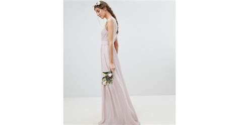 TFNC London Wrap Front Maxi Bridesmaid Dress With