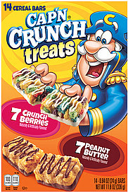 Capn Crunch Cereal Bars Treats, Assorted 14.0 ea Nutrition ...