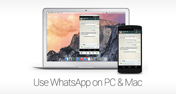WhatsApp on PC Mac main