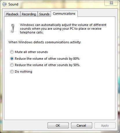 Sounds options
