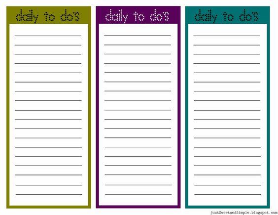 Printable Task List | Free Download and Printable Daily to do List ...