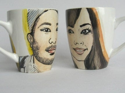 Handpainted personalized portrait mug - made to order