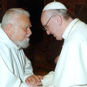 Enzo bianchi con Francesco