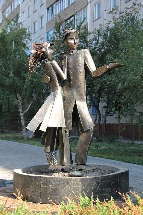 скульптура Танцующая пара. Новосибирск. Фото