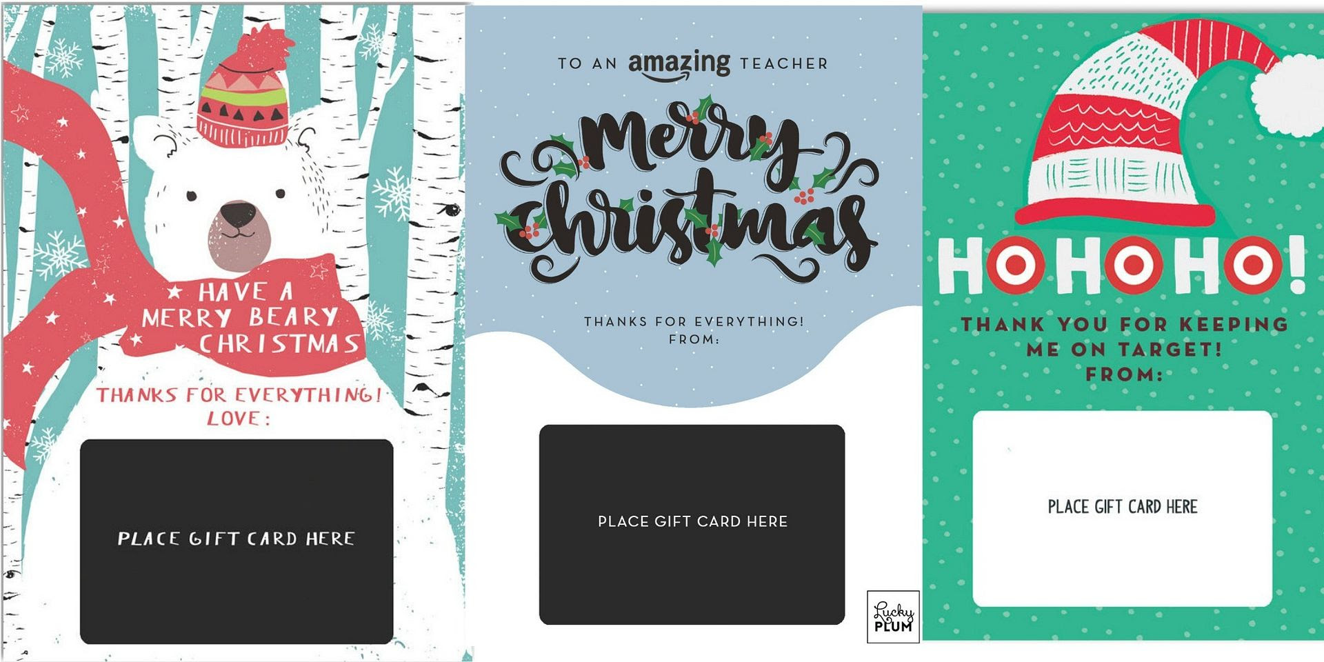 Gift Card With Insert Holiday Cards Creativehobbystore