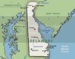 map of the Delaware Colony