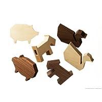 ALEXCIOUS 動物の形の木製USBメモリ