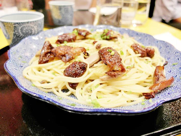 Roast duck, Hon Shimeji & Welsh Onions