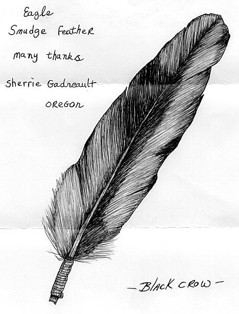 Eagle smudge feather.