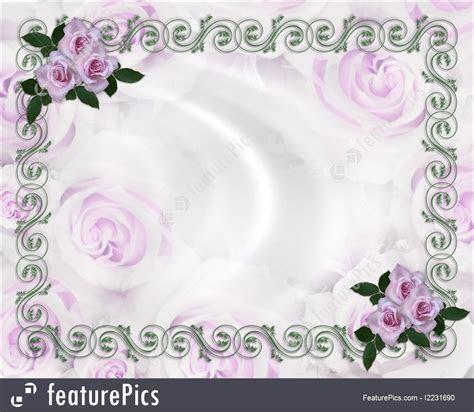 Lavender Roses Wedding Invitation Illustration
