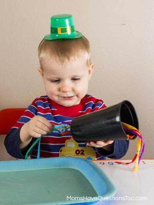 St Patricks Day Themed Tot School Trays Moms Have Questions Too