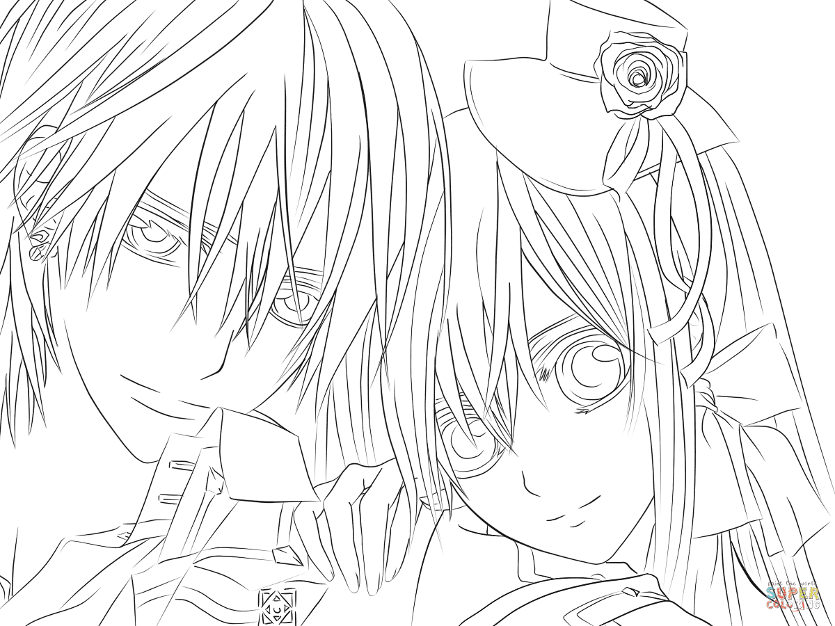 Dibujo De Yuki Zero De Caballeros Vampiros Para Colorear Dibujos