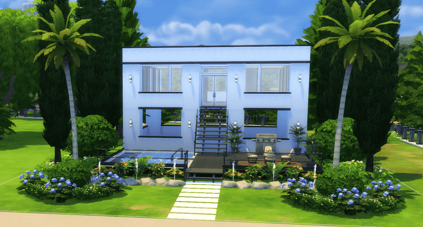 The Sims 4 How To Build A Simple Modern House