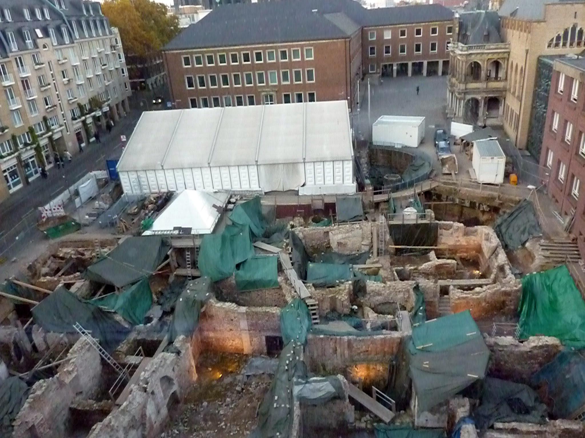 Die Grabungszone - Archäologische Zone Köln