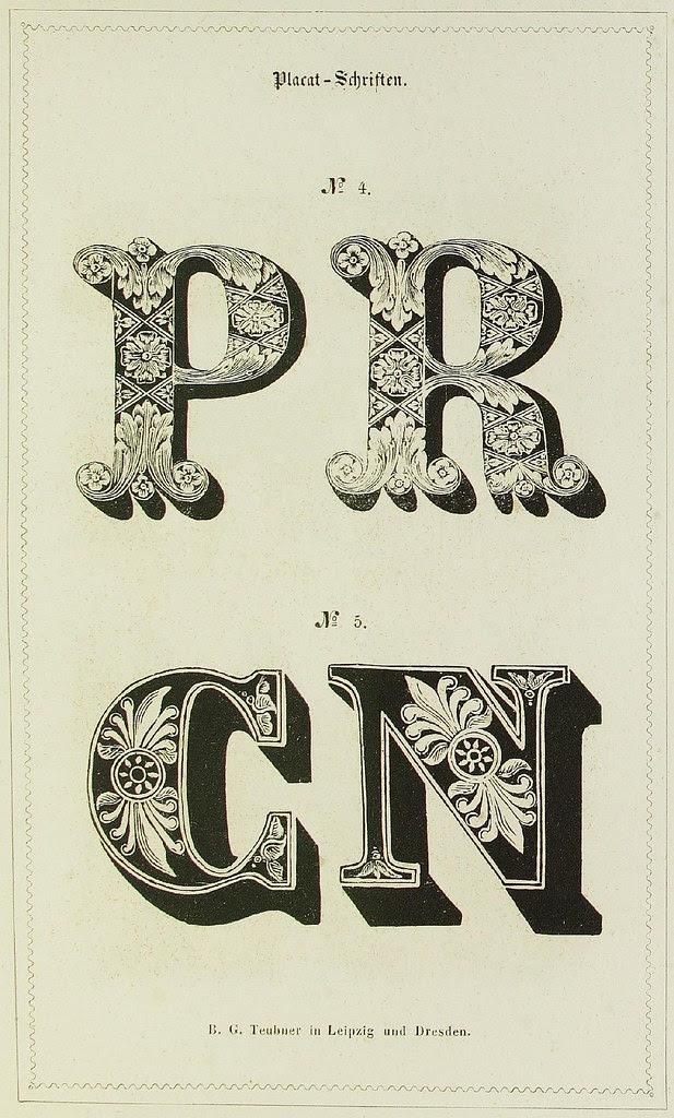 Schrift- und Polytypen-Proben BG Teubner, 1846 d