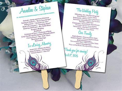 diy wedding program fan template ceremony program