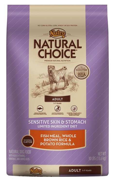 nutro natural choice sensitive skin  stomach adult dry