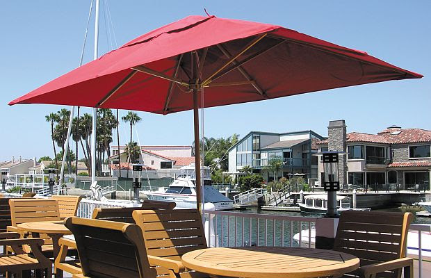 6.5ft x 10ft Rectangle Huntington Series Patio Umbrella - UK110