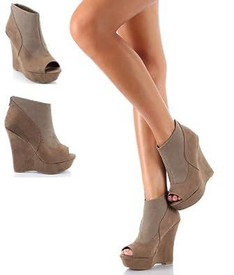 Shop Roslyn Nude Nubuck by London Rebel Online - FSW Shoes