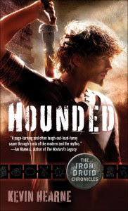 http://kevinhearne.com/books/hounded