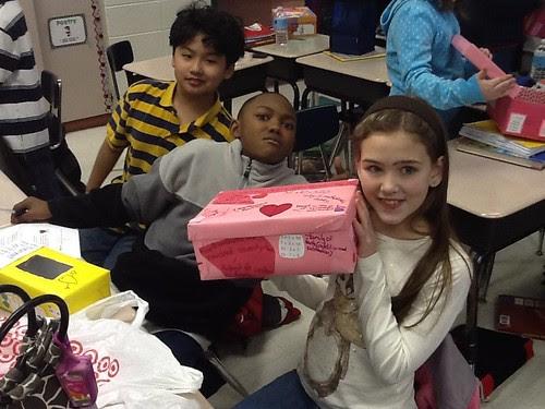 Sharing Valentine math boxes