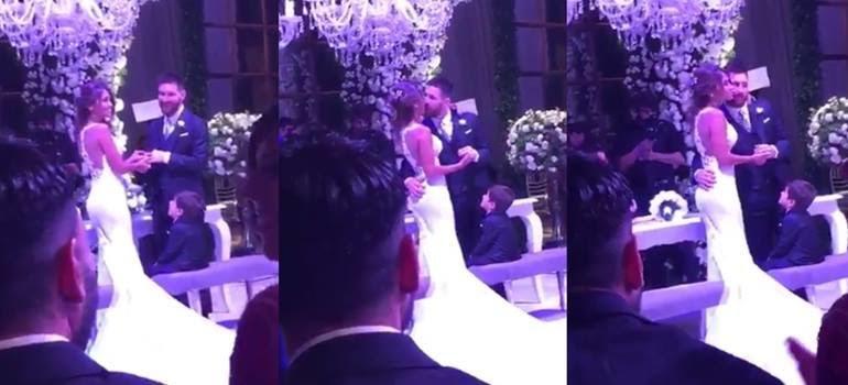 ¡Messi y Antonela ya son marido y mujer! Mirá el video del momento en que dieron el sí