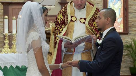 Marriage Vows and Rings Exchange   An Indian Wedding at St
