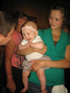 She has the best uncle cousins! (first cousin's once removed)