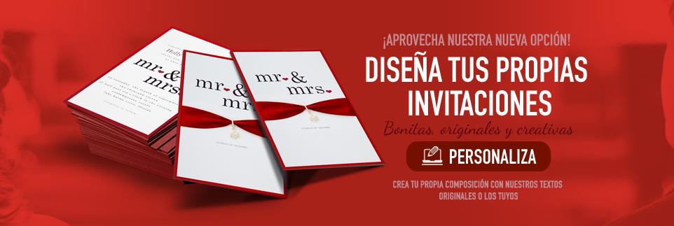 Personaliza tus invitaciones de boda