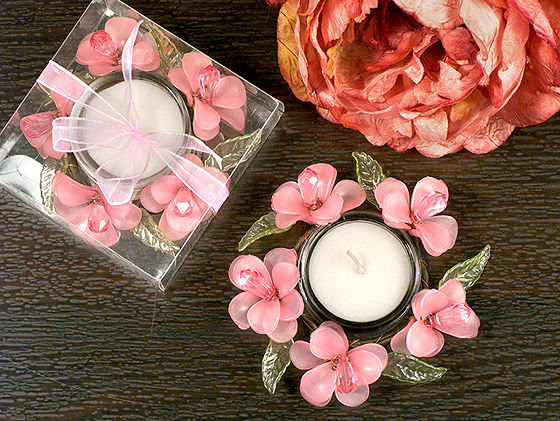 Elegant Frosted Pink Glass Flower Candle Holder Out Of Stock Untill 12 30 Toccabile Com